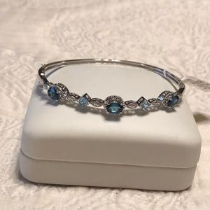 Jewelry - London Blue and Blue Topaz Bracelet with Diamonds